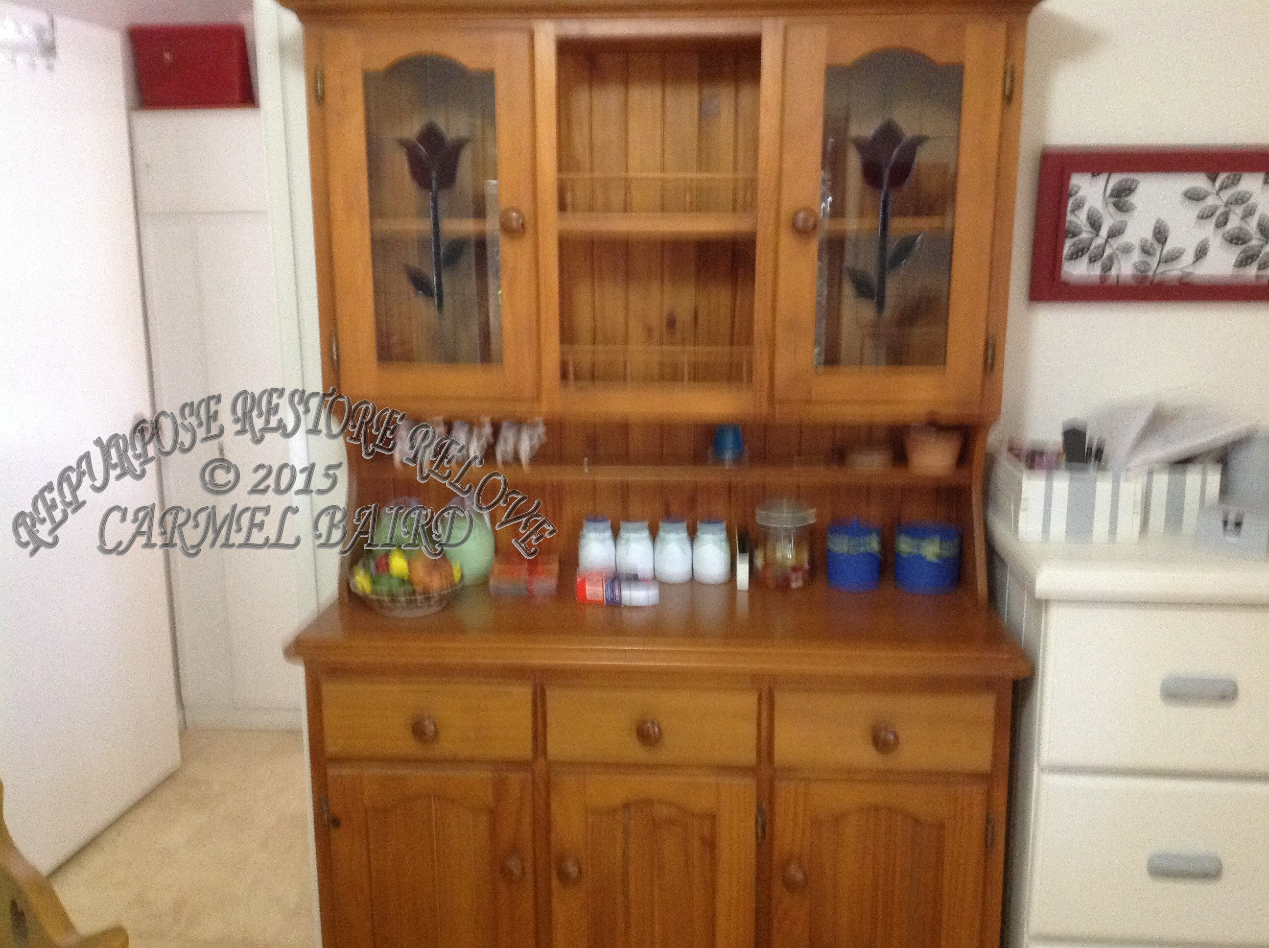 s shop pine gallery or country harp hutch cupboard irish sold pewter